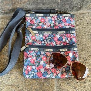 LeSportsac multicolor flower side bag